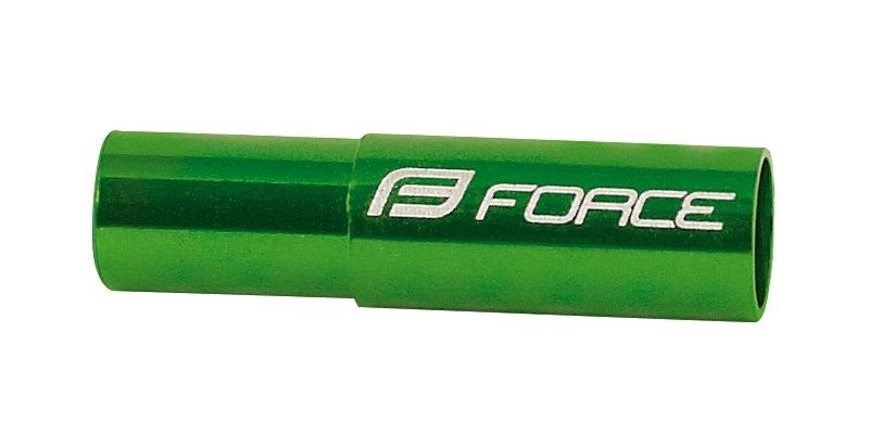 koncovky brzd. bowdenu FORCE 20ks / 5mm Al, zelené