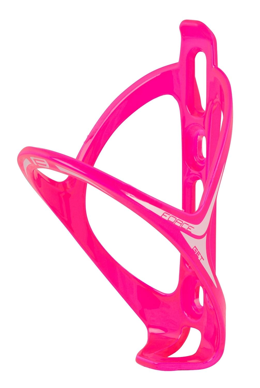košík láhve FORCE GET plastový, růžový lesklý