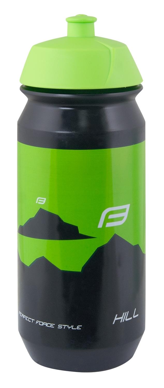 láhev FORCE HILL 0,5 l, černo-zelená