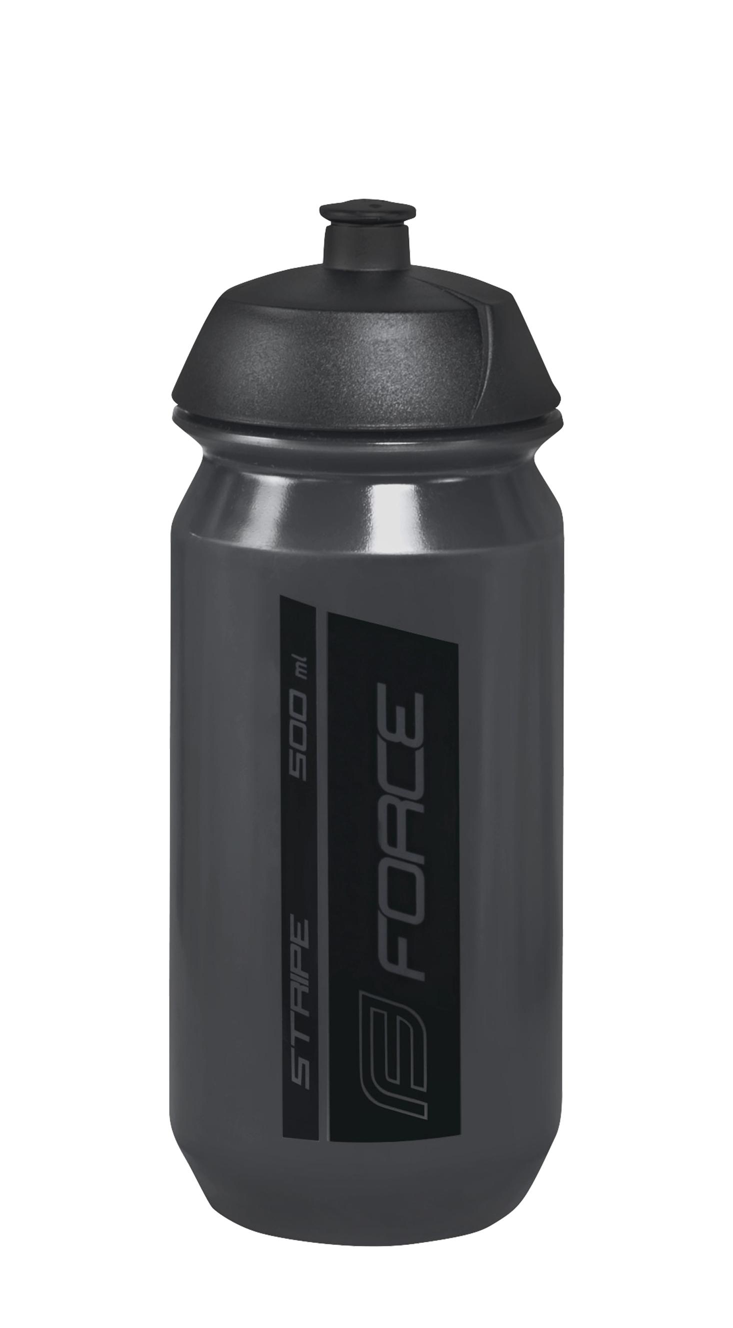láhev FORCE STRIPE 0,5 l, černá