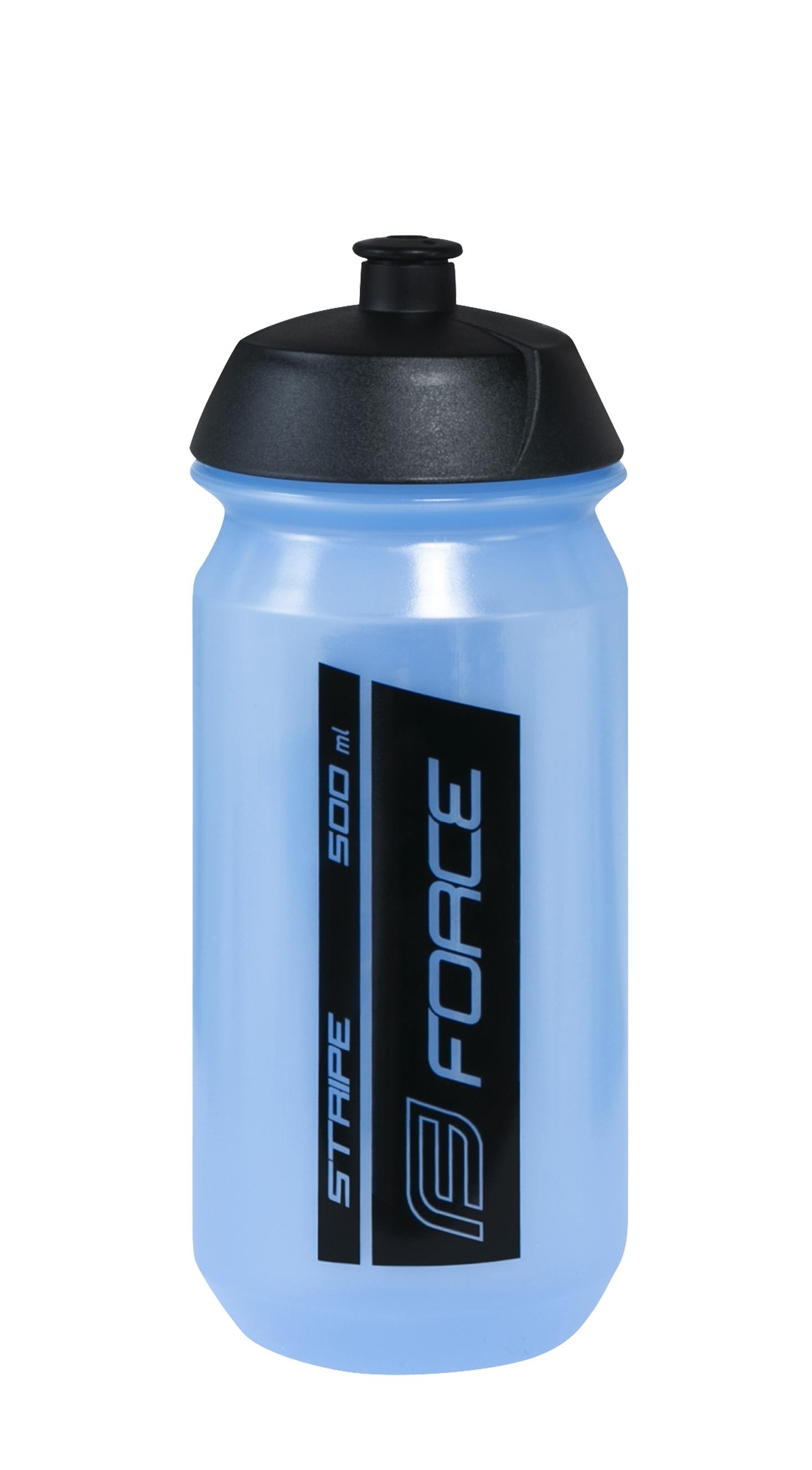 láhev FORCE STRIPE 0,5 l, modro-černá