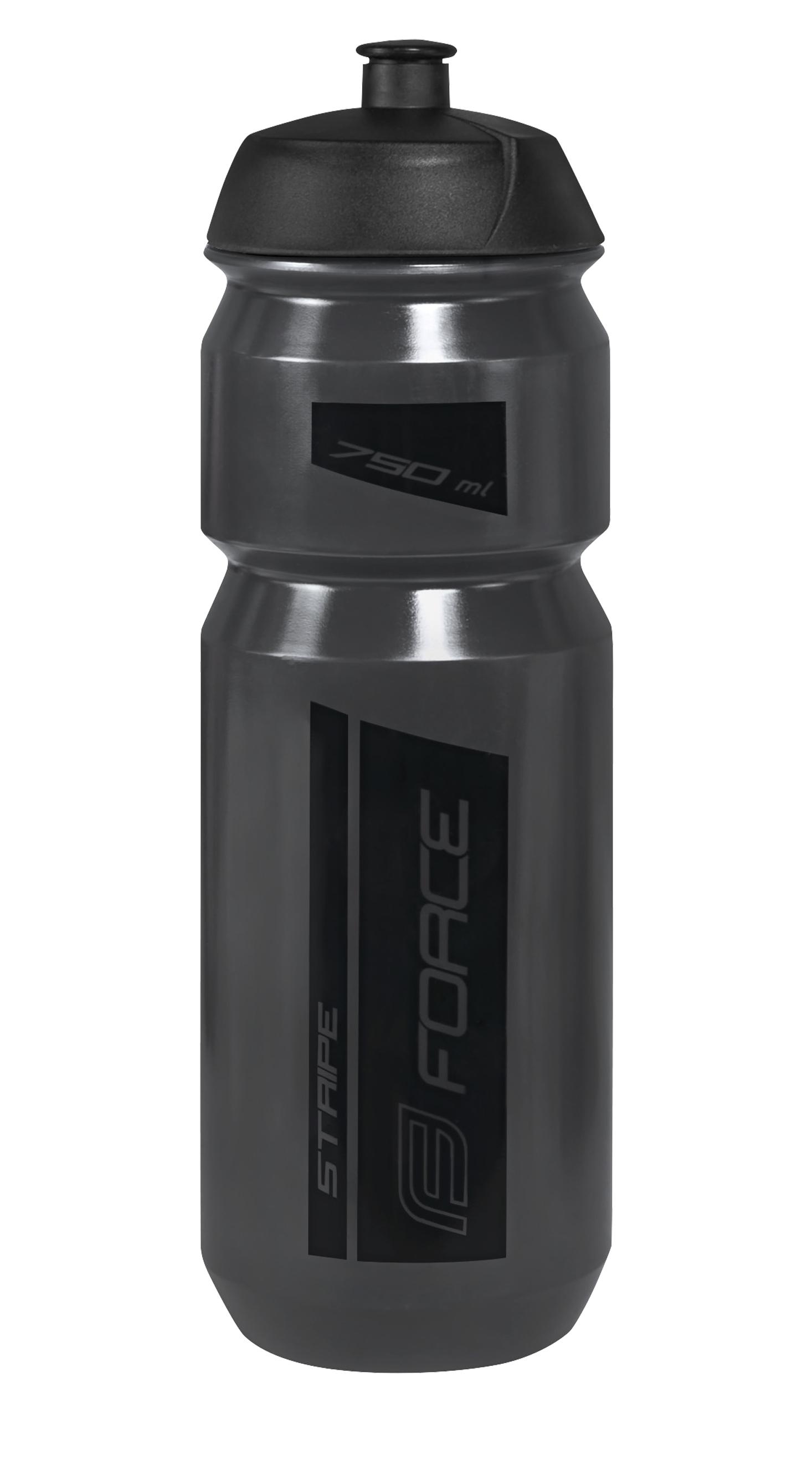 láhev FORCE STRIPE 0,75 l, černá