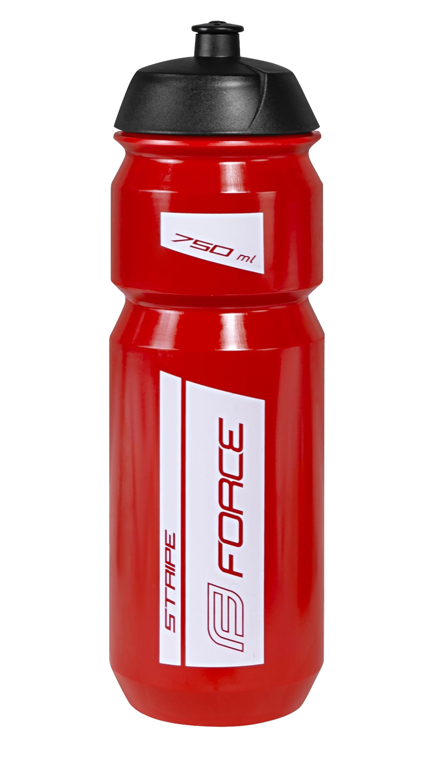 láhev FORCE STRIPE 0,75 l, červeno-bílá