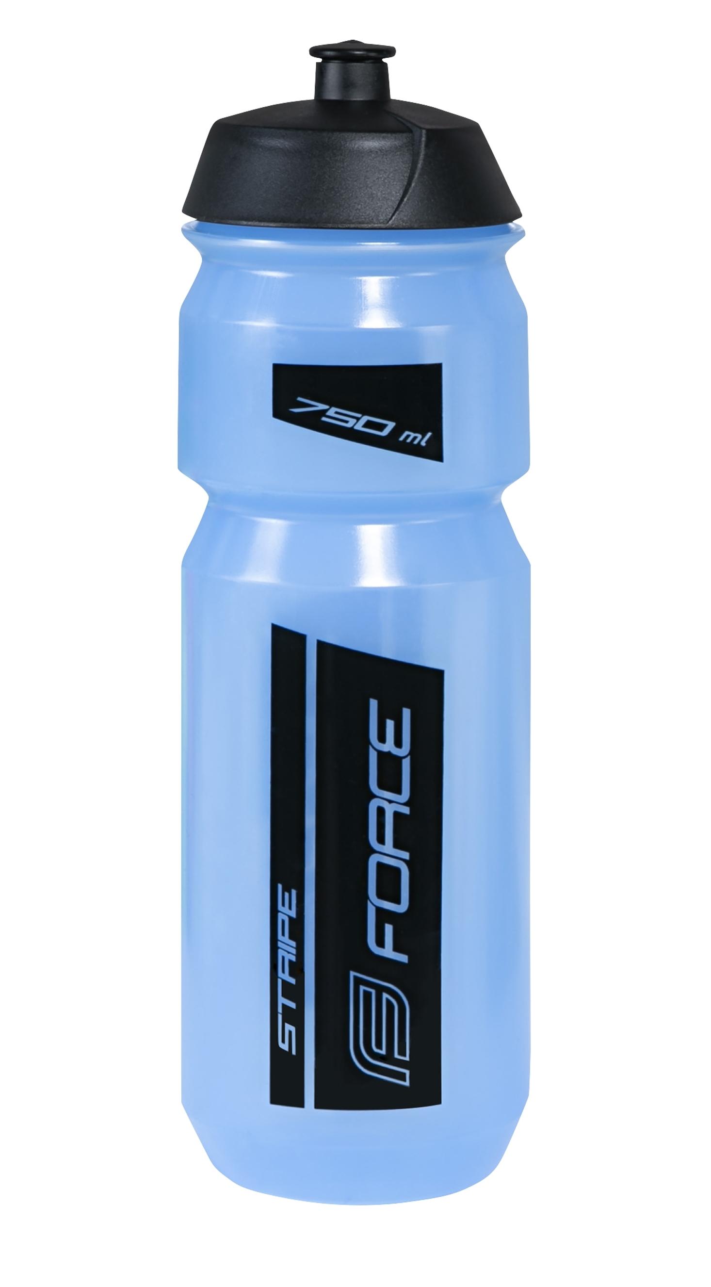 láhev FORCE STRIPE 0,75 l, modro-černá