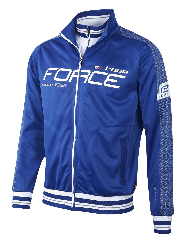 mikina FORCE 1991 celopropínací modrá L