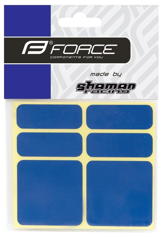 nálepky FORCE reflexní sada 6 ks, modré