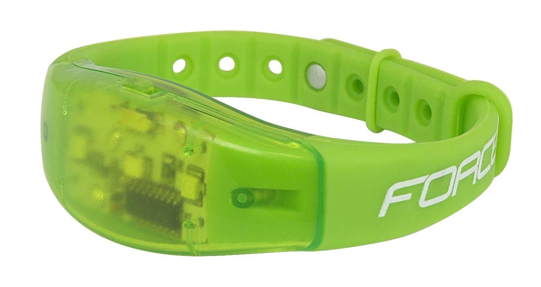 náramek reflexní FORCE SHINE 3 LED, fluo