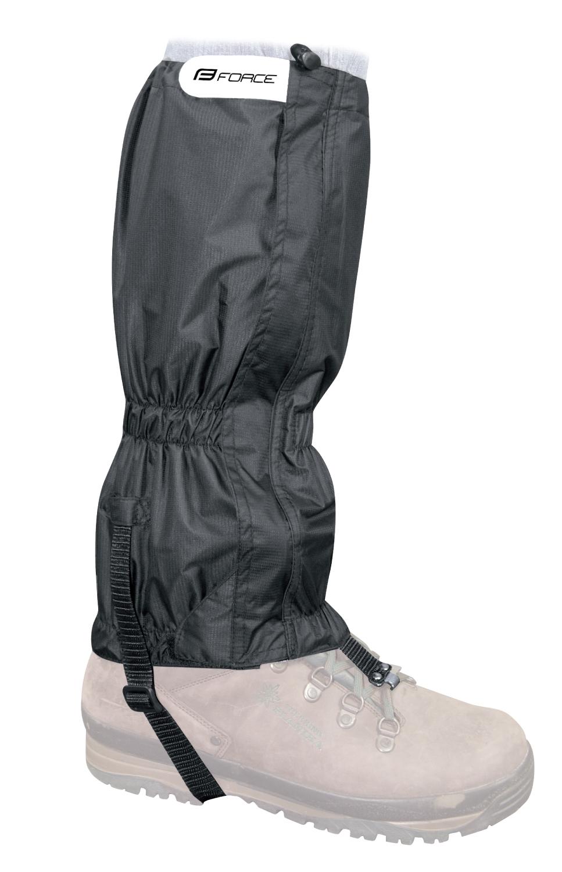návleky FORCE SKI RIPSTOP na boty černé