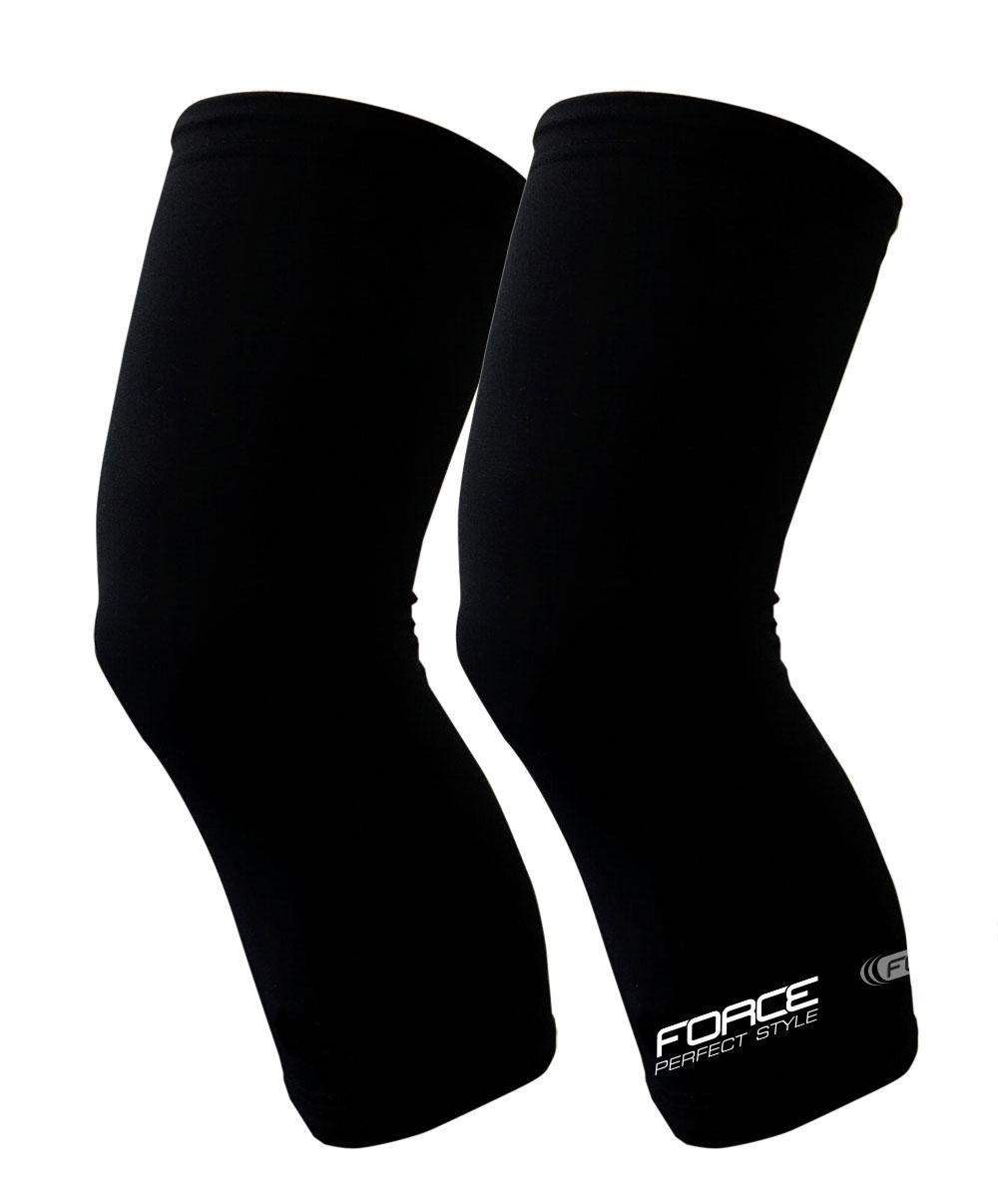 návleky na kolena FORCE TERM, černé S