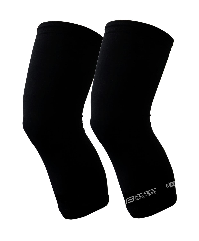 návleky na kolena FORCE TERM, černé XL