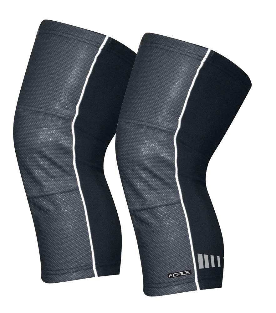 návleky na kolena FORCE WIND-X, černé XXL