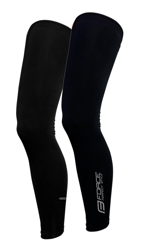 návleky na nohy FORCE TERM dlouhé, černé XL