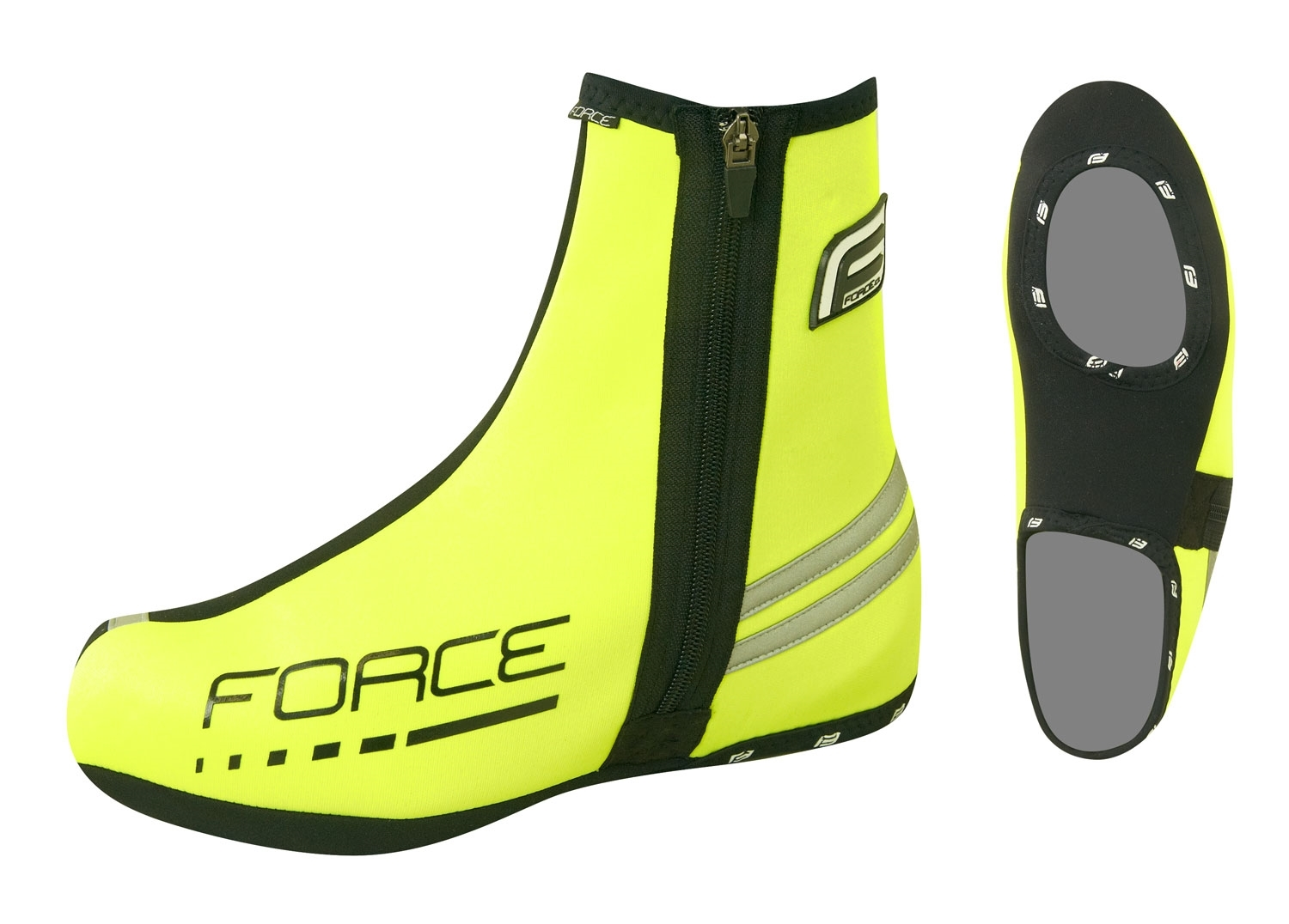 návleky treter FORCE NEOPRÉN BASIC, fluo XL