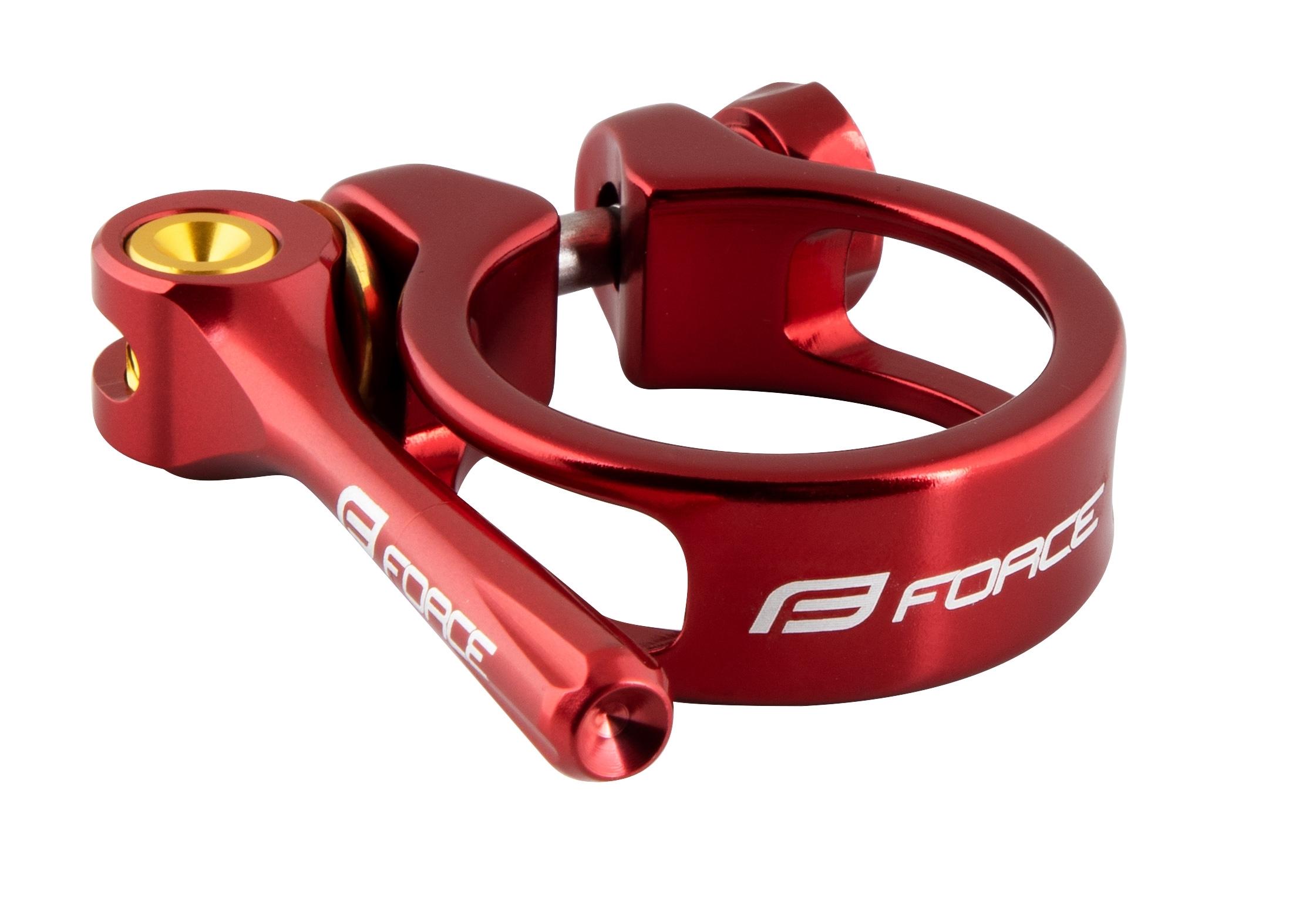 objímka sedlovky FORCE s RÚ 34,9mm Al, červená