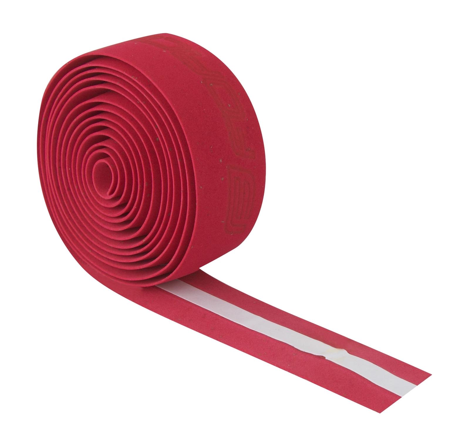 omotávka FORCE korková s vytláčeným logem, červená