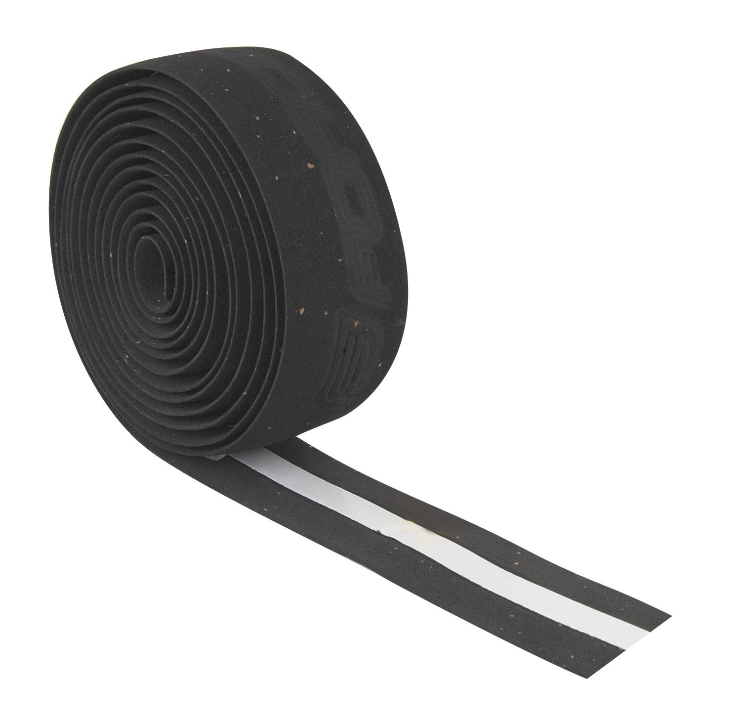 omotávky FORCE korková s vytláčeným logem, černá