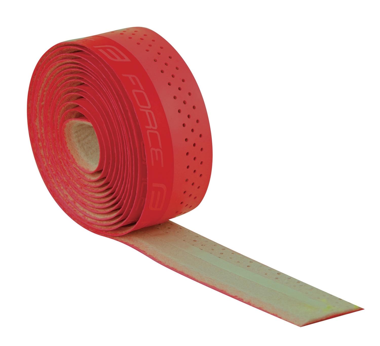 omotávky FORCE PU s vytláčeným logem, červená