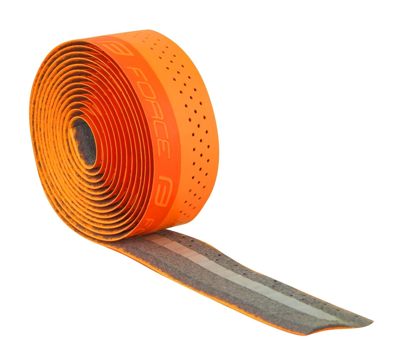 omotávky FORCE PU s vytláčeným logem, oranžová