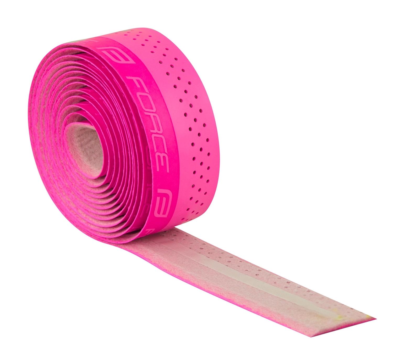 omotávky FORCE PU s vytláčeným logem, růžová
