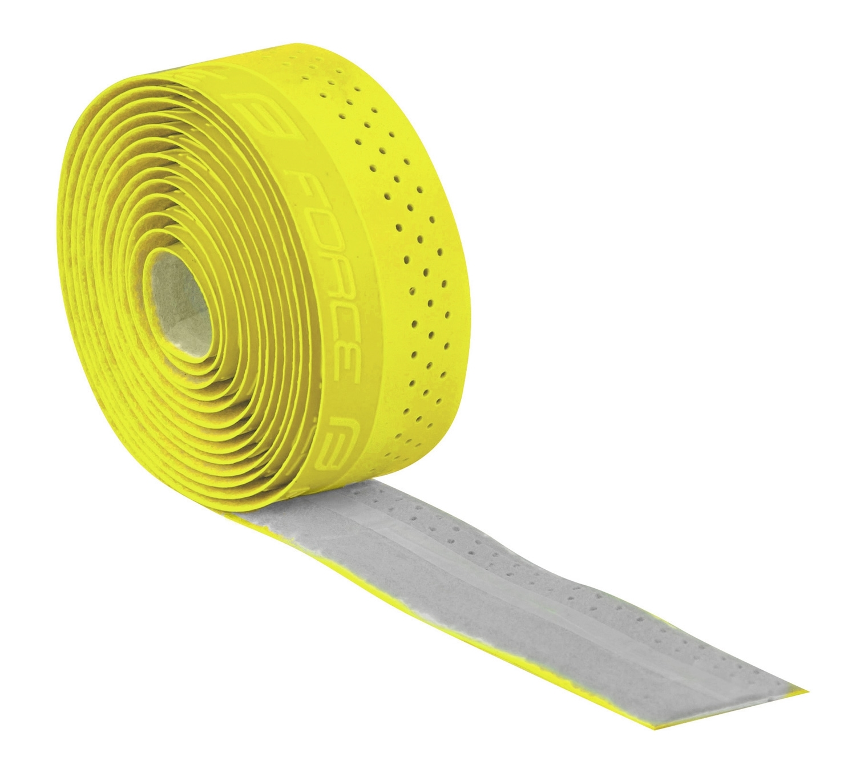 omotávky FORCE PU s vytláčeným logem, žlutá