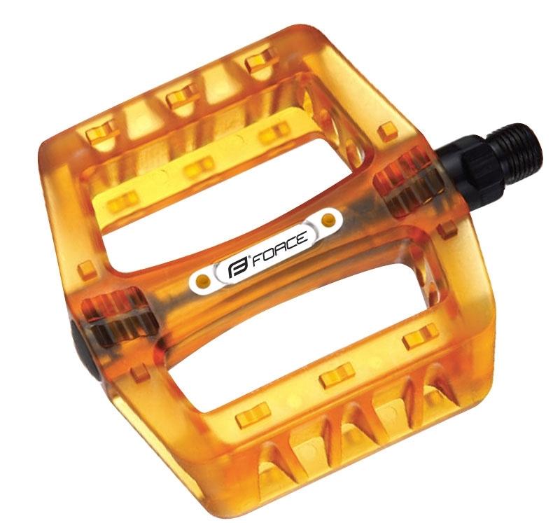 pedály FORCE BMX plast tvrzené, oranžové