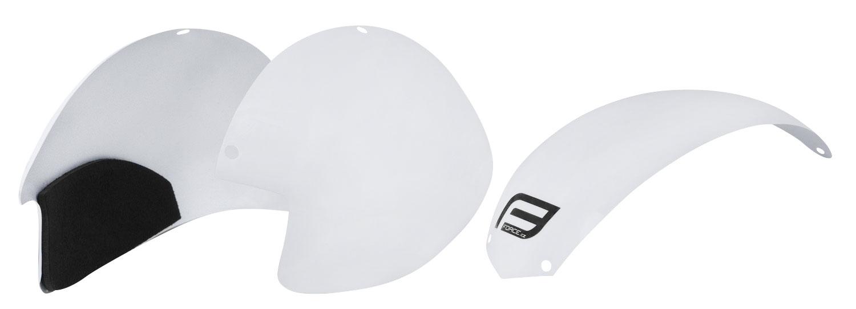 plasty k přilbě FORCE GLOBE sada 3 ks, bílé