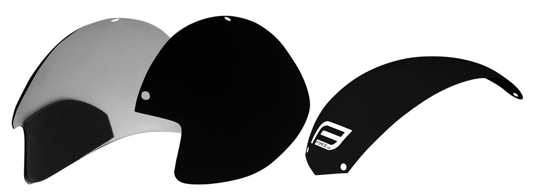 plasty k přilbě FORCE GLOBE sada 3 ks, černé