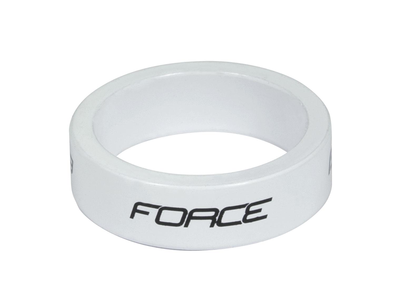 """podložka FORCE 1 1/8"""" AHEAD 10 mm Al, bílá"""
