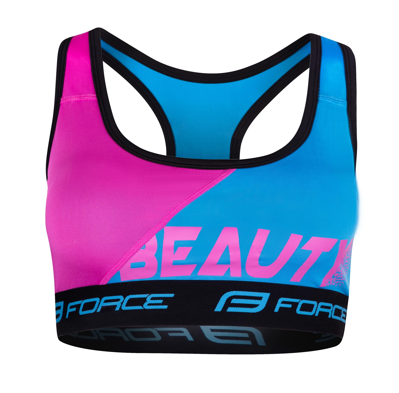 podprsenka sportovní FORCE BEAUTY, modrá-růžová XL