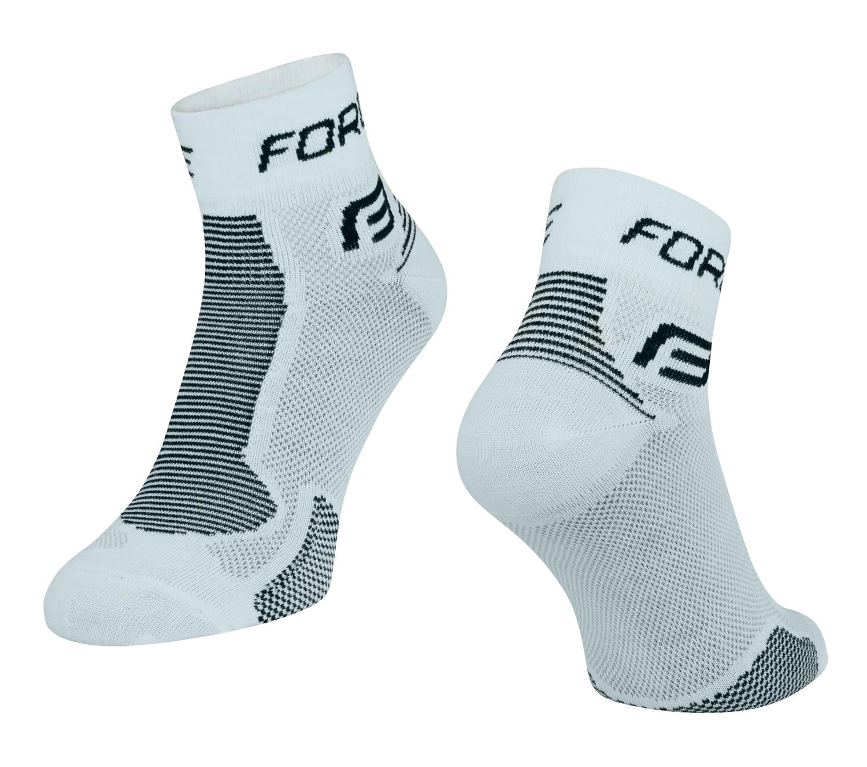 ponožky FORCE 1, bílo-černé L-XL