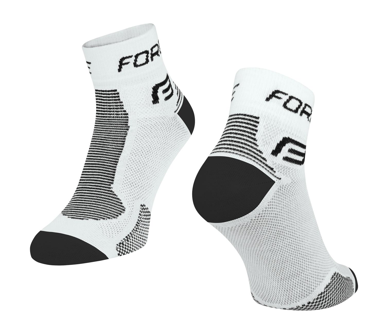 ponožky FORCE 1, bílo-černé S - M