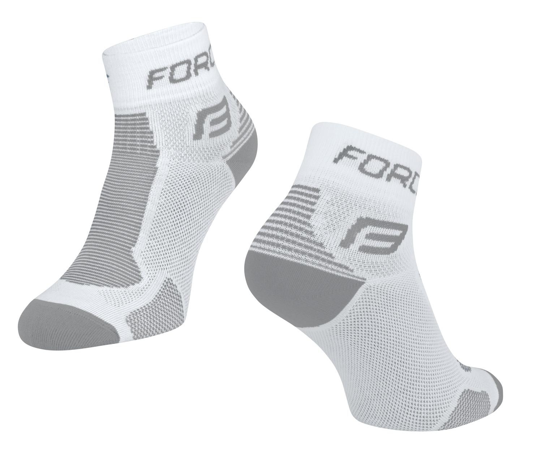 ponožky FORCE 1, bílo-šedé L-XL