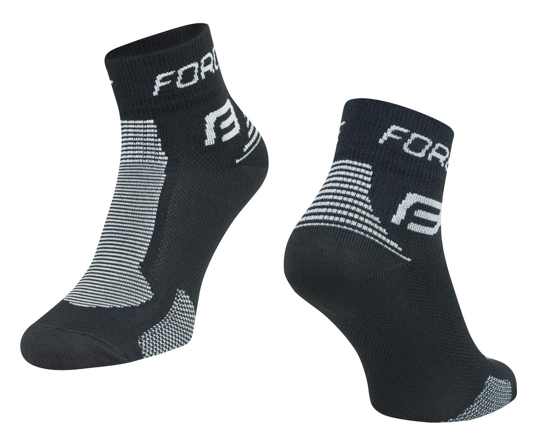 ponožky FORCE 1, černo-šedé L-XL