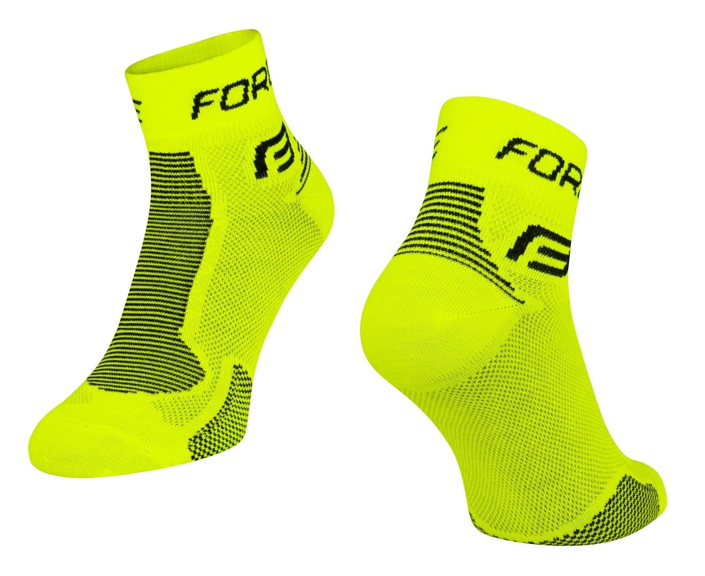 ponožky FORCE 1, fluo-černé XS