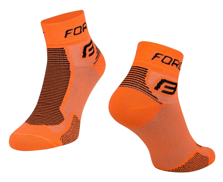 ponožky FORCE 1, oranžovo-černé L-XL