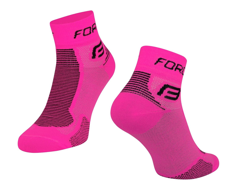 ponožky FORCE 1, růžovo-černé L-XL