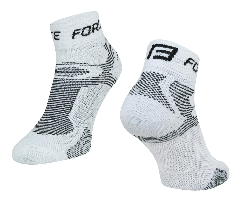 ponožky FORCE 2, bílo-černé L - XL