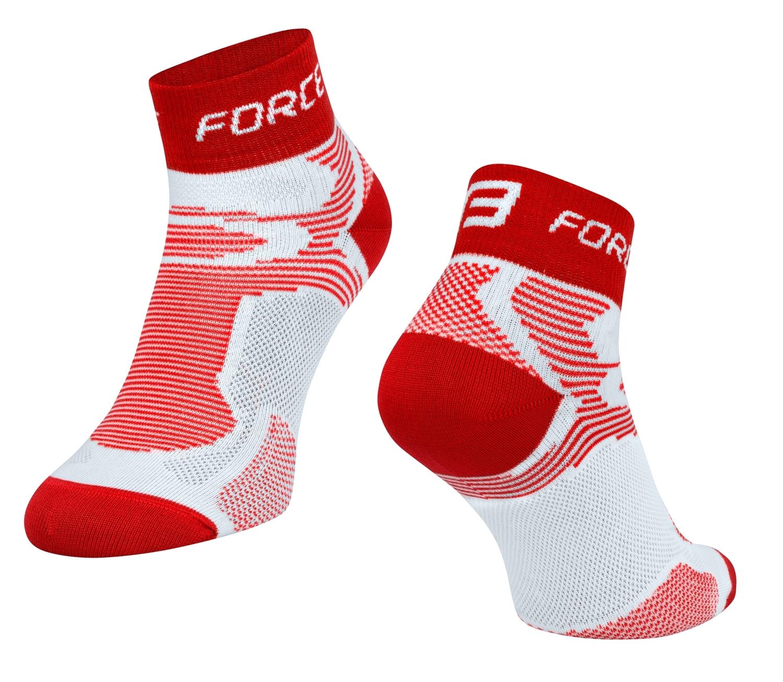ponožky FORCE 2, bílo-červené S - M