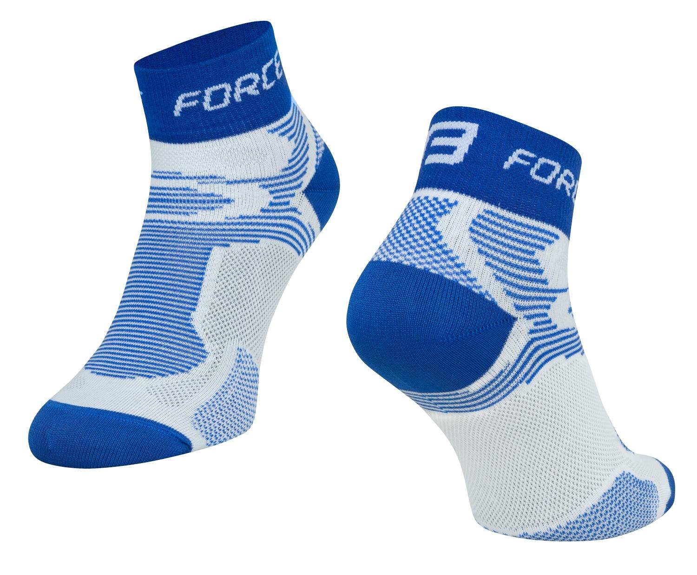 ponožky FORCE 2, bílo-modré L - XL