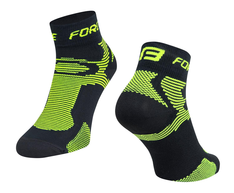 ponožky FORCE 2, černé-fluo L - XL