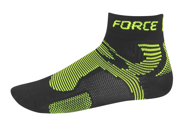 ponožky FORCE 2, černé-fluo S - M