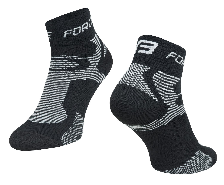 ponožky FORCE 2, černo-šedé L - XL