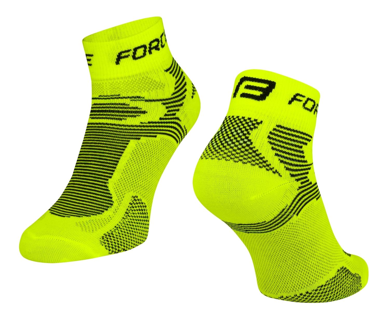ponožky FORCE 2, fluo-černé S - M