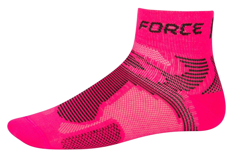 ponožky FORCE 2, růžovo-černé L - XL