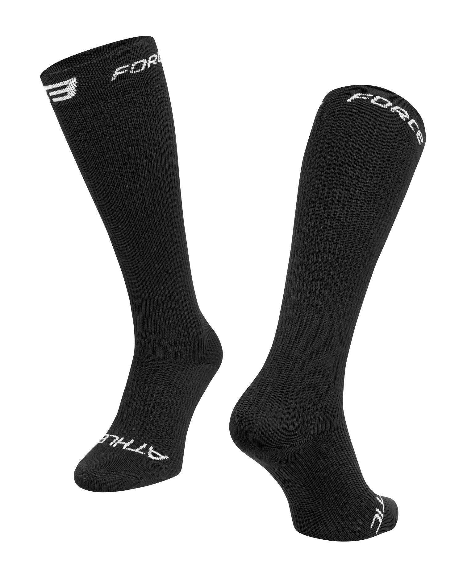 ponožky FORCE ATHLETIC KOMPRESNÍ, černé L-XL