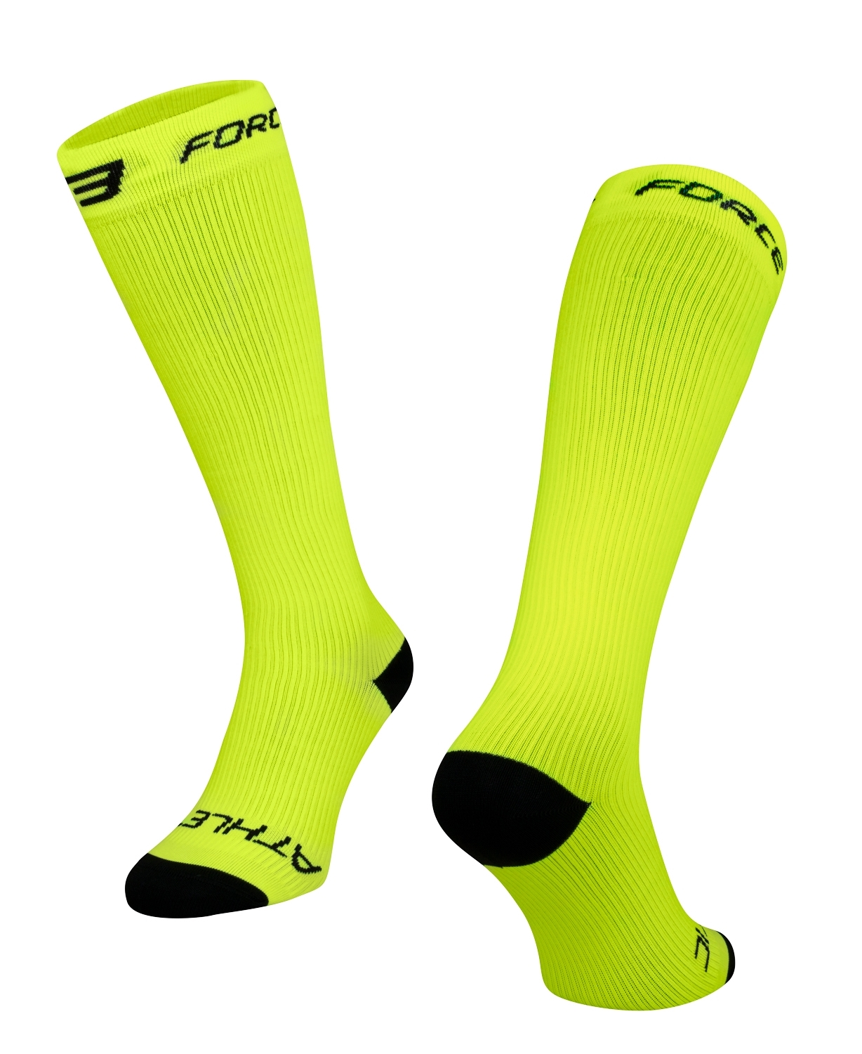 ponožky FORCE ATHLETIC KOMPRESNÍ, fluo L-XL