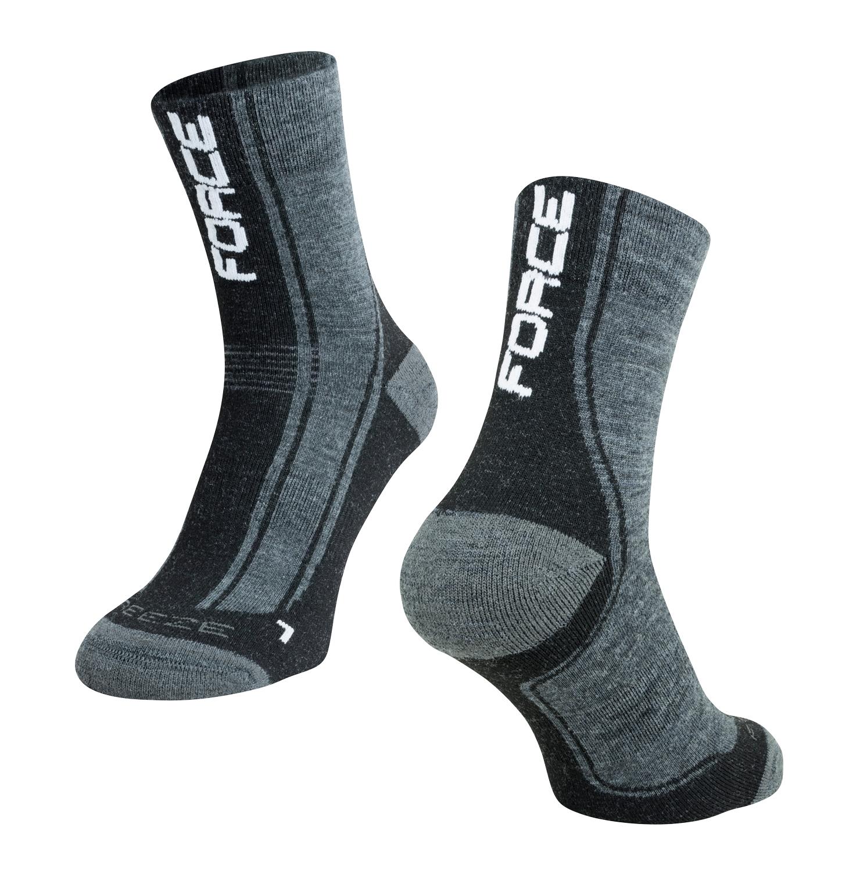 ponožky FORCE FREEZE, šedo-černo-bílé, L-XL