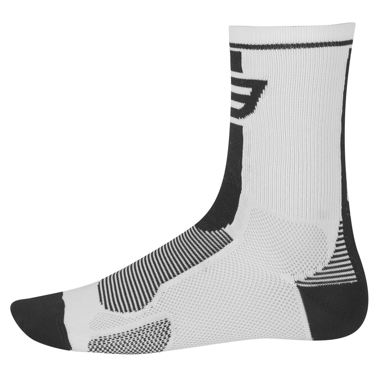 ponožky FORCE LONG, bílo-černé S - M