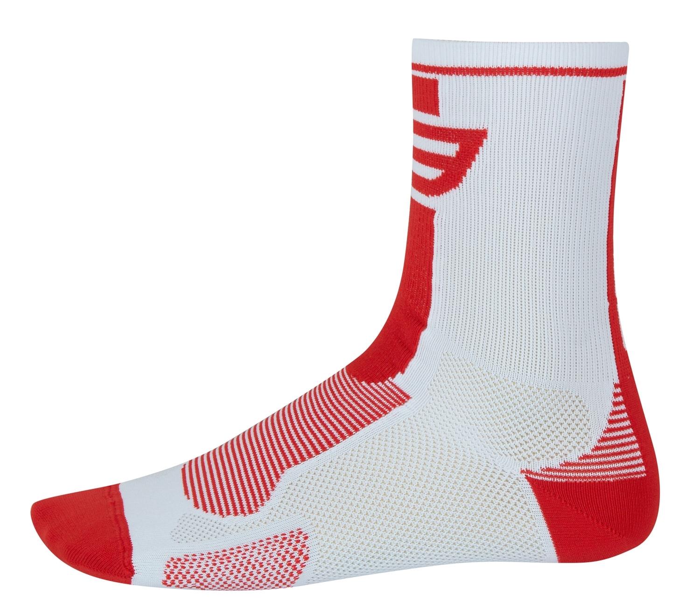 ponožky FORCE LONG, bílo-červené L - XL