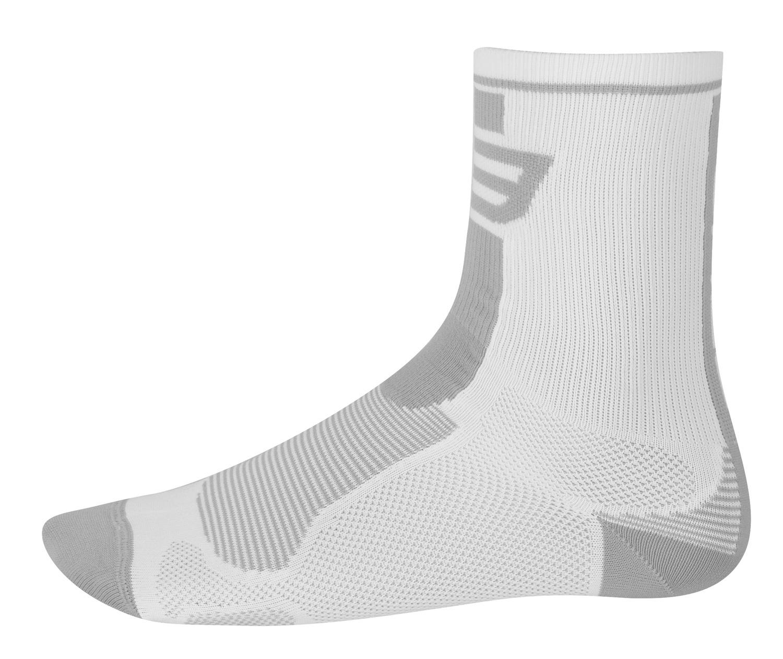 ponožky FORCE LONG, bílo-šedé L - XL
